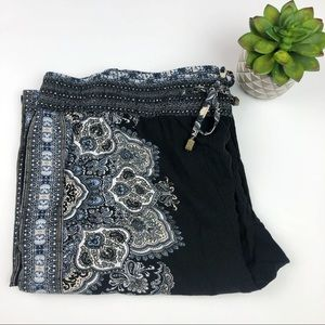Cynthia Rowley Black Paisley Soft Comfy Pants